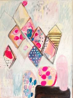 M. Kobus, abstract painting, oil painting, an important appointment