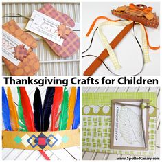 Thanksgiving Crafts For Children on Spotted Canary