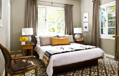 modern bedroom windows | Window Treatment Ideas From Custom Curtains To Easy Sewing ...