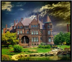 Richardsonian Romanesque style home - Cupples house