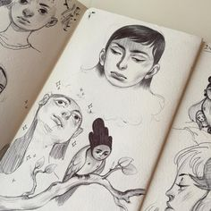 Sketchbook Drawings, Sketchbook Pages, Drawing Sketches, Art Drawings, Art Journal Pages, Illustrations, Illustration Art, Sketchbook Inspiration, Drawing Reference