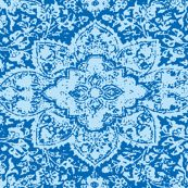 Persian Plate Blue - amyvail - Spoonflower.  Seamless complex repeat, for lovers of flow-ware.