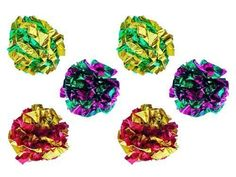PETFAVORITES Mylar Crinkle Balls Cat Toys Best Interactive Crinkle Cat Toy Balls Ever Top Rated Independent Pet Kitten Cat Toys for Fat Real Cats Kittens Exercise SoftLightRight Size 6 Pack *** Read more reviews of the product by visiting the link on the image.