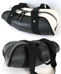 Design Blog :: SPGRA | Cool Recycled Tyre Tube Bags by SEAL