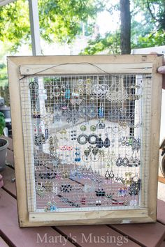 Chicken Wire Frames DIY Repurposed Thrift Store Find Chicken