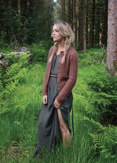 GALEN a classic cabled cardigan