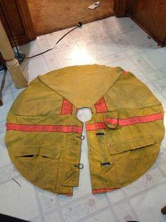 Firefighter bunker gear tree skirt for the fireman tree- I LOVE this!