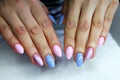 Rose Quartz & Serenity gel polish  by Renata Bartosik Indigo Young Team #nails #nail #indigo #rose #blue #pastel #quartz #serenity #pantone #new #spring #pastel