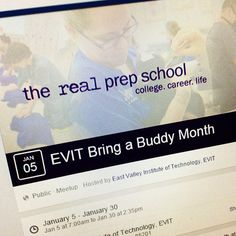 Do you have a friend that might be interested in attending #EVIT? Well, January is Bring a Buddy month! Get the permission form on the EVIT website or ask your teacher. Invite one friend or invite many! If you have any questions, call 480-461-4153. #WeAreEVIT