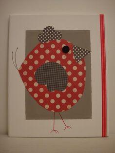 """Tableau Déco pour enfant """"cocotte"""" : Décoration pour enfants par les-tresors-d-isaure Bird Crafts, Easter Crafts, Art For Kids, Crafts For Kids, Diy And Crafts, Chicken Crafts, Bird Quilt, Send A Card, Farm Theme"""