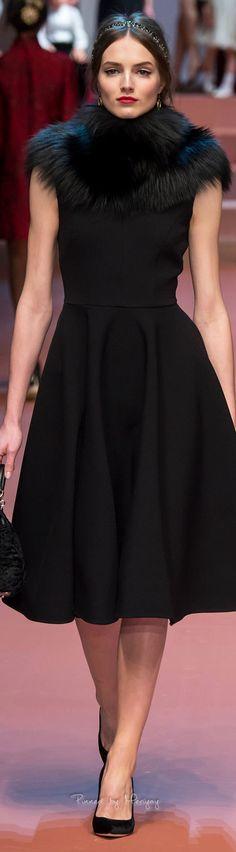Dolce & Gabbana Little Black Dress Fall 2015
