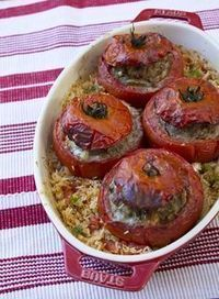 Stuffed Tomatoes In The Old Lady Coquillette Gourmet Cooking Recipes Fun Easy Recipes, Healthy Crockpot Recipes, Meat Recipes, Healthy Dinner Recipes, Cooking Recipes, Healthy Drinks, Healthy Dinners For Two, Gourmet Cooking, Health Dinner