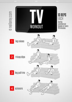 Movie Night Workout by Neila Rey Neila Rey Workout, Sixpack Workout, Workout Men, Couch Workout, Office Exercise, Exercise Plans, Men Exercise, Workout Plans, Workout Ideas