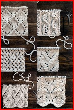 Top 34 Lace Knit Stitches - Tutorials - Knitting is as easy as 3 That . Top 34 Lace Knit Stitches – Tutorials – Knitting is as easy as 3 Knitting boils down to t Beginner Knitting Patterns, Knitting For Beginners, Knit Patterns, Blanket Patterns, Knitting Ideas, Beginners Sewing, Lace Knitting, Knitting Stitches, Knit Lace