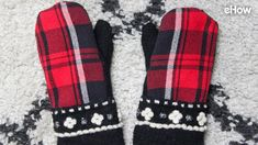 DIY Mittens From an Upcycled Flannel Shirt