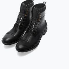 #Leather-felt worker bootie