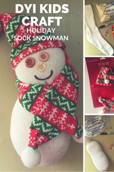 DIY Crafts for Kids! Holiday Sock Snowman