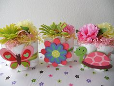 Safari Jungle  Miniature Diaper Cake Centerpieces - Set of 3. $22.00, via Etsy.   this lady is awesome!