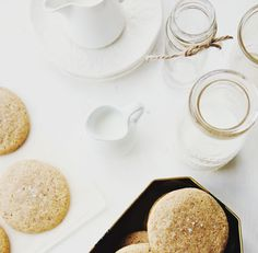{table for two | recipe : almond butter cookies with fleur de sel} by {this is glamorous}, via Flickr