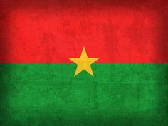 Burkina Faso Flag Vintage Distressed Finish Print By Design Turnpike
