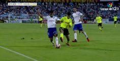 Estupefacción en el Real Zaragoza por el penalti que no fue: la imagen no engaña