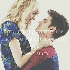Peter and Gwen: Love not Lost ps. The Amazing Spiderman 2 was an AWESOME movie. Cutest on-screen couple!!!