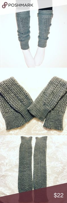 Grey Knitted Leg Warmers These are so adorable! They are awesome at keeping your legs warm! Size small-medium! boutique Accessories Hosiery & Socks