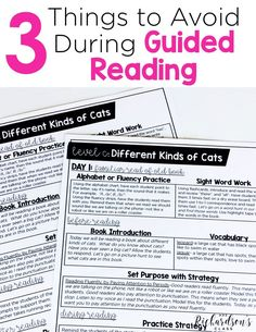 When it comes to a guided reading lesson, there are 3 things you should avoid. Read to find out why these things are not a best practice for a guided reading lesson. Guided Reading Lessons, Reading Practice, Teaching Reading, Interactive Read Aloud, Students Day, Fluency Practice, Balanced Literacy, Teaching First Grade, Instructional Coaching