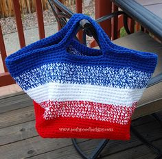 FREE Pattern : Big Striped Bag Crochet Pattern