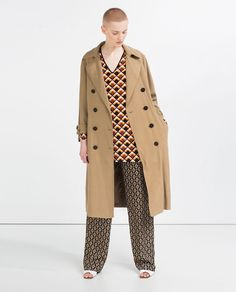 Image 1 of LONG CROSSOVER TRENCH COAT from Zara