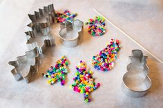 melt plastic beads in cookie cutters-cute ornaments