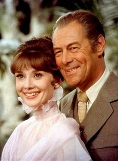 """Rex Harrison (with Audrey Hepburn) in  """"My Fair Lady"""". (Saw Harrison perform a revival of his legendary role as Henry Higgins in Chicago in the 1980s.) (KevinR@Ky)"""