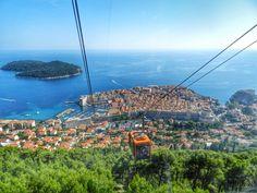 Vista de Dubrovnik pelo teleférico