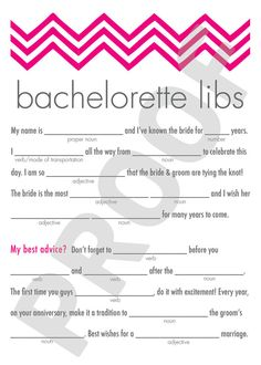 bed53825 Printable-Bachelorette Party Game Mad Libs by AppleInvitations Bachelorette  Party Games, Mad Libs,