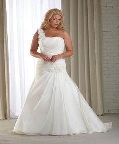 Ruched wedding gown by Bonny