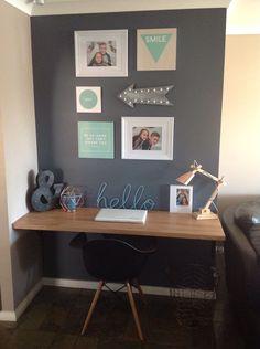 Beautiful desk set up. Kmart Australia style. Kmart hacks