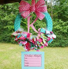 Ribbon Hospital Door Wreath