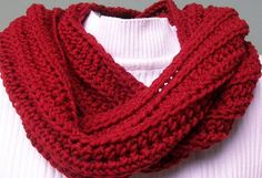 Red Scarf Crochet Scarf for Men or Women Acrylic by KrochetKingdom