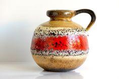Scheurich West German pottery vase/jug 48421 by ThatRetroPiece, $115.00