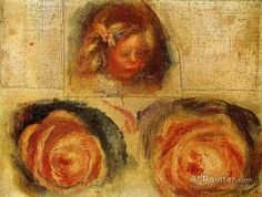 Pierre Auguste Renoir Coco And Roses (study) oil painting reproductions for sale