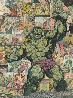 Incredible Hulk Comic Collage by flukiechic on DeviantArt Comic Book Characters, Comic Character, Comic Books Art, Comic Art, Marvel Art, Marvel Dc Comics, Marvel Heroes, Punisher Marvel, Hulk Marvel