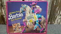 BARBIE WESTERN FUN SUN RUNNER RARE VINTAGE 1989 NIB #9961