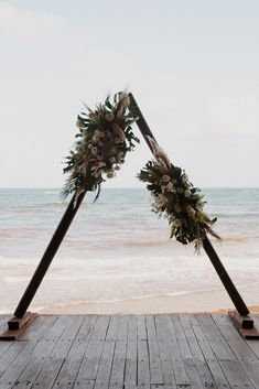 Tropical triangular canopy ∙ Planning, designing by Destination Weddings Tulum ( on IG) Flowers by Moni Junco ( on IG) Boho Beach Wedding, Tulum Mexico, White Sand Beach, Destination Weddings, Film Photography, Videography, Beautiful Beaches, White Flowers, Canopy