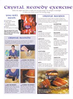 Crystals & Stones:  #Crystal Remedy Exercise.