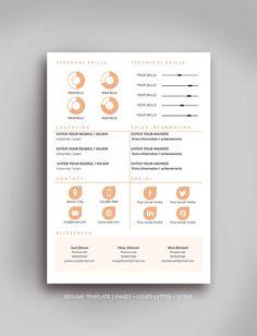 ¡ Bienvenido a Fortunelle CV!  En nuestra tienda puede conseguir alta calidad, modernas y elegantes plantillas de CV que son atraídas por el diseñador profesional. Nuestros currículos combinan muy bien del pensamiento hacia fuera de diseño y espacio suficiente para su información. Estamos seguros de que nuestros currículos Fortunelle le traerá una buena suerte y ayuda para conseguir trabajo de tus sueños!  LO QUE TIENES  -Curriculum Vitae + 1 carta de presentación en formato .docx o .doc…