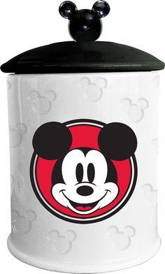 Disney Mickey Mouse Embossed Cookie Jar