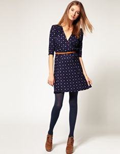 Sessun - Beauvoir V Neck Cotton Dress in Japanese Fabric