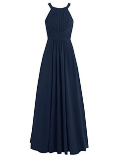 Dresstells® Long Chiffon Halter Neck Prom Dress with…