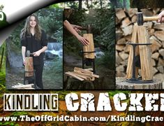 The Kindling Cracker is the easiest and safest way to chop wood Kindling Splitter, Log Splitter, Grid Tool, Home Tools, Wood Burner, Camping Stove, Off The Grid, Camping Hacks, Homesteading