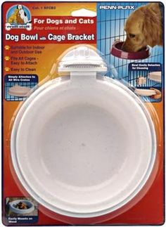 Dog Bowl with Cage Bracket - for Small and Medium Size Dogs ** Continue to the product at the image link.